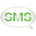 Sms symbol bubble illustration in high resolution Royalty Free Stock Images