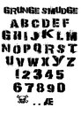 Smudge Grunge Font Royalty Free Stock Photo