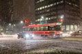 Snöstorm i toronto Arkivfoto
