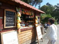 Snack bar at sopot beach in gdansk poland a tourist walking up to order food a shop the popular of on a sunny summer day Royalty Free Stock Photography