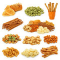 Snack collection Royalty Free Stock Photos