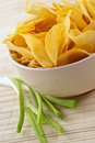 Snack from crackling potato chips Stock Images