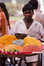 The snack seller proudly displays his merchandise during many local fairs in northern india they are part of local markets Royalty Free Stock Images