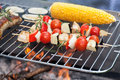 Snacks on grill tasty grilled roasting a Stock Image