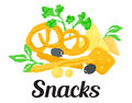 Snacks sticker