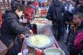 Snacks at temple fairs tianjin china Royalty Free Stock Photos