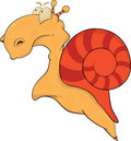 Snail.Cartoon Foto de Stock Royalty Free