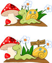 Snail cartoon Stock Photos