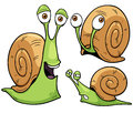 Snail cartoon vector illustration of Royalty Free Stock Photo