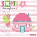 Snail house vector illustration Royalty Free Stock Photo