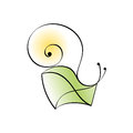 Snail mail. Abstract icon Stock Photography