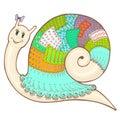 Snail patchwork 2 color2
