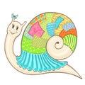 Snail patchwork cute color1