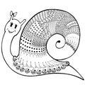 Snail patchwork cute1