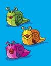 Snails cartoon Royalty Free Stock Photo