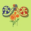 Snails colorful vector design this is file of eps format Royalty Free Stock Images