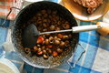 Snails gormand typical food of lleida catalan city near of barcelona Royalty Free Stock Photos