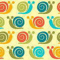 Snails pattern a colorful seamless Stock Images