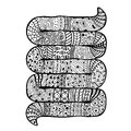 Snake with an abstract pattern Stock Image