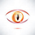 Snake beast eye abstract glossy shape Royalty Free Stock Photography
