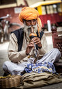 Snake charmer Royalty Free Stock Photos