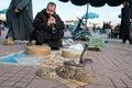 Snake charmer marrakesh morocco january at djemaa el fna square january in marrakesh morocco Stock Photos