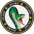 Snake coat of arms with stars and circles Royalty Free Stock Photo
