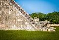 Snake detail of Mayan Temple pyramid of Kukulkan - Chichen Itza, Mexico Royalty Free Stock Photo