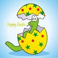 Snake easter postcard for the eggs are hatched little Royalty Free Stock Photography