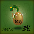 Snake in an egg Stock Images