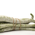 Snake gourd on white background Stock Photography