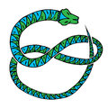 Snake green blue Royalty Free Stock Photo