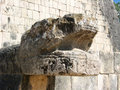 Snake head of Great Ball court, Chichen Itza Stock Photography