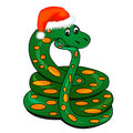 Snake in holiday new year's hat Stock Photos
