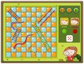 Snake And Ladder Game With Boy...