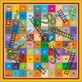 Snake Ladder Ludo-Print & Play Stock Photo