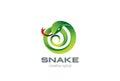 Snake Logo circle shape design vector. Viper Logo