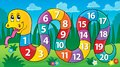 Snake with numbers theme image 2 Royalty Free Stock Photo