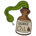 Snake oil an image of a bottle Stock Photo