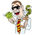 Snake oil salesman an image of a con artist Royalty Free Stock Photo