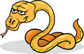 Snake reptile cartoon illustration Stock Photo