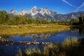 Snake River, Schwabacher Landing, Grand Tetons National Park Royalty Free Stock Photo