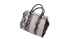 Snake skin leather bag see my other works in portfolio Royalty Free Stock Photo