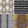 Snake skin texture set. Seamless pattern. Vector