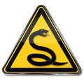 Snake and snake venom caution Stock Photos