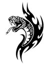Snake tattoo Royalty Free Stock Image