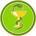 Snake wine cup medicine symbol Stock Photography