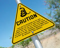 Snake in your boots warning signs found throughout the southwest Royalty Free Stock Photos