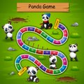 Snakes and ladders game panda theme