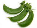 Snap peas pictured in a white background Stock Photography
